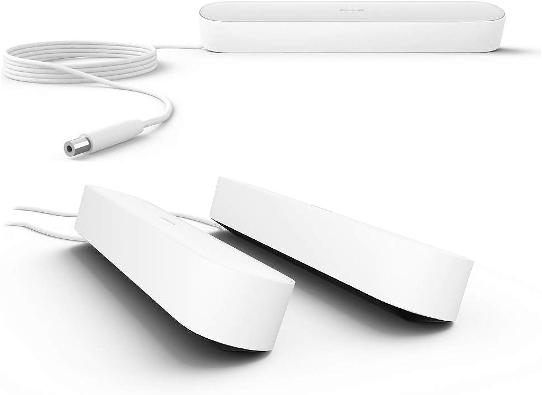 Philips Hue Play LED Tischleuchte, Wei - 3er Set inkl. Netzteil  Gaming-Beleuchtung Ambilight für Monitor oder Fernseher