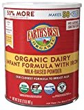 Earth's Best Organic Dairy Infant Powder Formula with Iron, Omega-3...