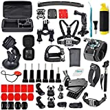 Adofys 61 in 1 Action Camera Accessories Kit Compatible for GoPro, Sony Action Cam, Nikon, Garmin, Ricoh Action Cam, SJCAM, iPhone and Android | Epic Photo Shooting (61 in 1)