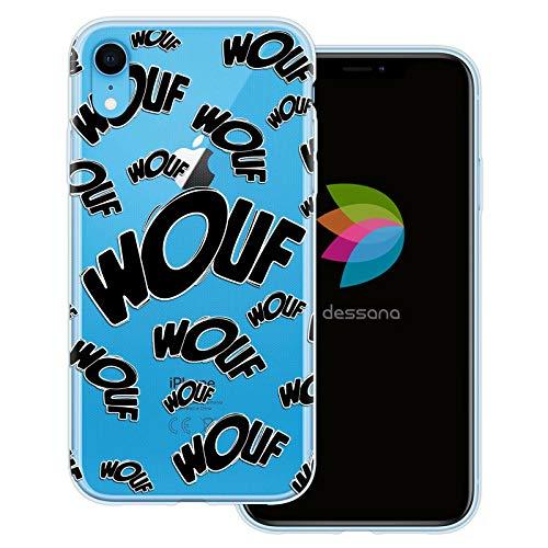 dessana Comic Zeichen transparente Schutzhülle Handy Case Cover Tasche für Apple iPhone XR Wouf