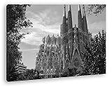 die Kathedrale Sagrada Familia in Barcelona Effekt: