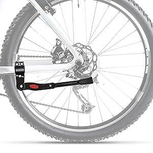 "CampTeck U6896 Caballete Bicicleta Ajustable de Aluminio Bike Stand Pata de Cabra Bicicleta - Se Adapta a 24""-28"" MTB Montaña, Carretera, Híbrido, Bicicletas Plegables"