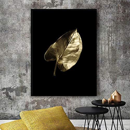 FLOORMATJING Afrikanische Kunst Schwarz und Gold Frau Malerei auf Leinwand Poster und Drucke Skandinavische Wandkunst Bild für Wohnzimmer No Frame,02,50 * 75cm