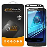 (2 Pack) Supershieldz for Motorola (Droid Turbo 2) Tempered Glass Screen Protector, (Full Screen Coverage) Anti Scratch, Bubble Free (Black)
