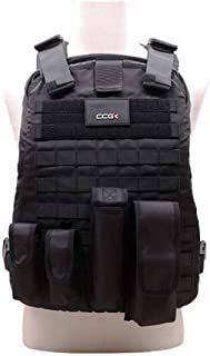 Tactical CS Field Vest Chest Padded Protector Vest 600D Oxford Cloth Detachable Armor for Combat Swat Assault Army Shooting Hunting Outdoor Police