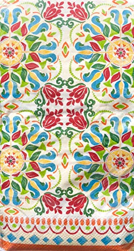 Craftmaster Moroccan Medallion Guest Towels Hostess Paper Napkins (2824), 36 ct