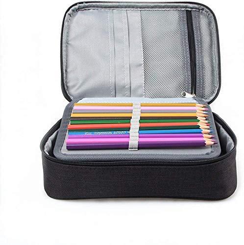 Bolsa de lápiz, 72 ranuras, estuche para lápices plegable, organizador de gran capacidad para adolescentes, estudiantes y artistas, 24 x 18 x 6,5 cm, color Negro: Amazon.es: Oficina y papelería