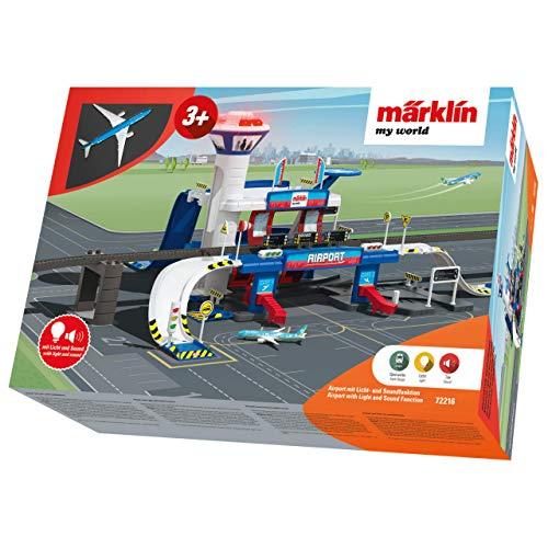 Märklin 72216 my world ‐ Ergänzungspackung Airport Station, Modelleisenbahn-Set für Kinder ab 3 Jahre, Licht-und Soundeffekte, mit Flugzeug, Spur H0