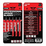 5 x TopsTools T101BIF Laminate Cutting Jigsaw Blades Compatible with Bosch, Dewalt, Makita, Milwaukee and Many More