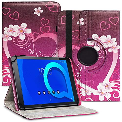 Tablet Hülle kompatibel für Alcatel 1T 10 Tasche Schutzhülle Hülle Schutz Cover 360° Drehbar 10.1 Zoll Etui, Farbe:Motiv 2
