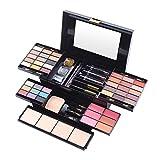 Kit de maquillaje All in One, paleta de sombras de ojos 39 colores, con base, rubor rubor, esponja, rímel, lápiz de cejas, lápiz labial de 3 colores, kit completo de espejo