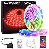 Tiras LED, WEILY Bluetooth Luces LED RGB 10M 5050 con Control Remoto Control, 150 Tira LED...