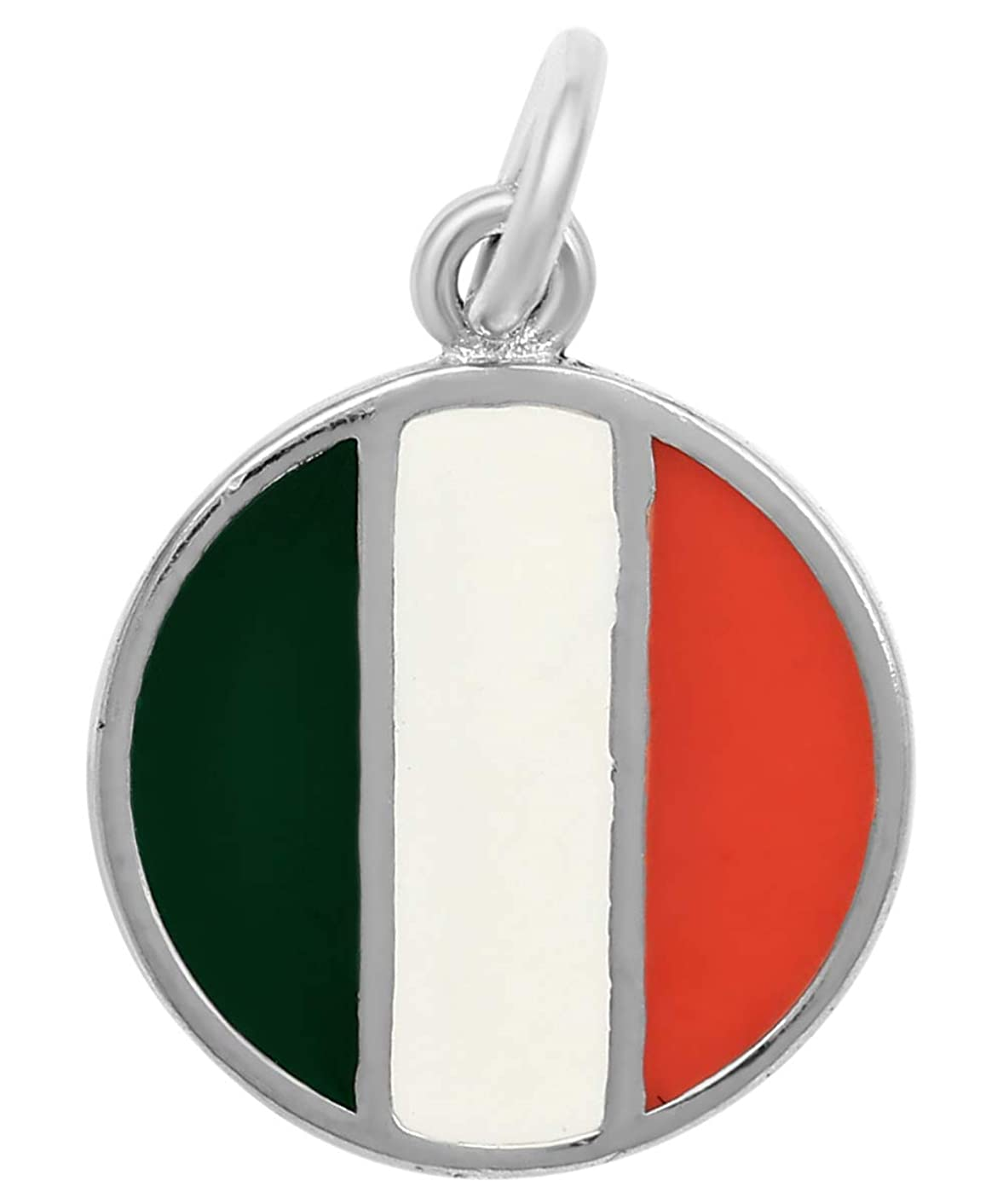 Raposa Elegance Sterling Silver Enamel Country Flags Round Disc Charms cntbdftt76086024