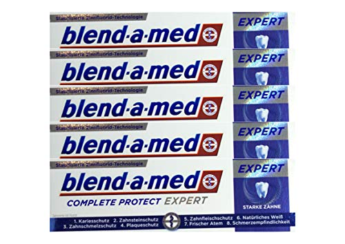 5x 75ml Blend-a-med Complete Protect Expert Starke Zähne Zahnpasta NEU