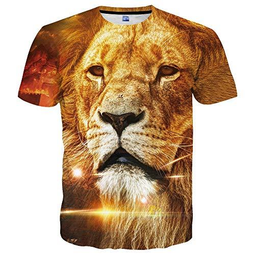 Unisex 3D Printed Cool Fishing T-Shirts Summer Casual Novelty Crewneck Short Sleeves Tees Yellow33 L