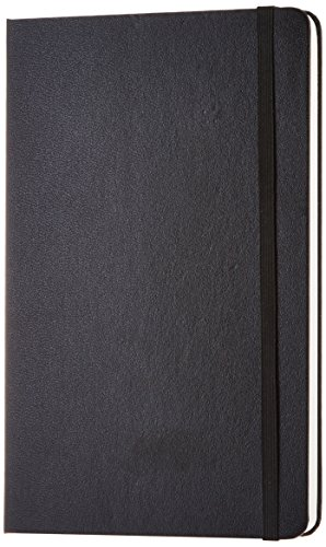 AmazonBasics Classic Blank Notebook, 240 Pages, Hardcover - Plain