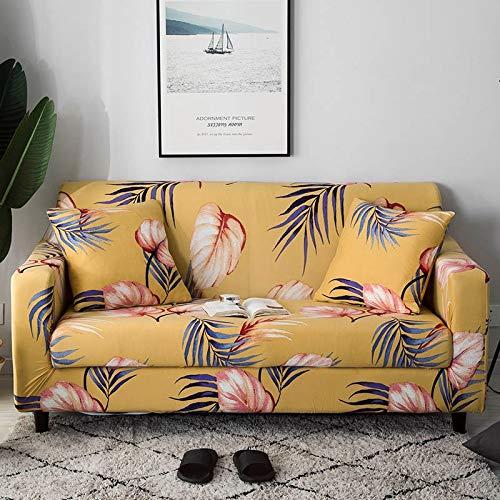 ASCV Funda de sofá elástica Fundas de sofá de algodón Fundas Ajustadas para sofá con Todo Incluido Fundas de sofá para Sala de Estar Mascotas Funda de sofá A8 1 Plaza
