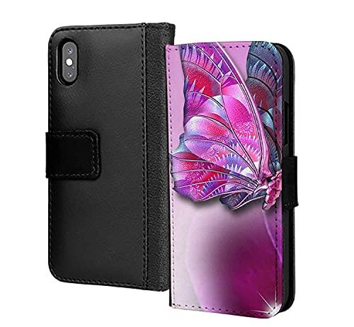 3D Farfalla Viola Morbido Eromatic DELL'UNITÀ di elaborazione Del Raccoglitore in Cassa Del Telefono Carta Copertura Per Samsung Galaxy S6