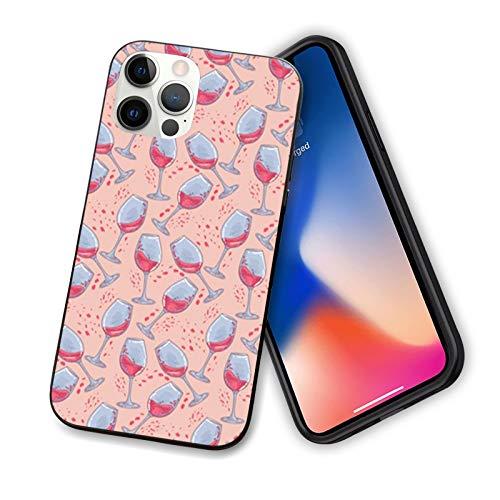 Bachelorette - Carcasa para iPhone 12 Series 2020, diseño de copas de vino con dibujo de dibujo flexible y delgado de TPU para iPhone 12 Pro Max 6.7 pulgadas, multicolor
