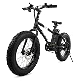"Swagtron EB-6 Bandit E-Bike 350W Motor, Power Assist, 4"" Tires, 20"" Wheels, Removable 36V Lithium Ion Battery, Dual Disc Brakes–..."