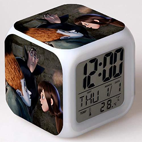 Wizard Hostel Alarm Clocks Kids LED Clock Cartoon Night Light Flash 7 Color Changing Digital Clock Electronic Desk Clock,Style 34, Birthday