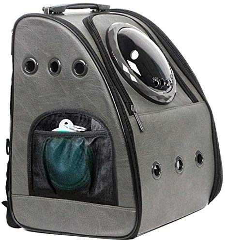 Upgraded Cat Backpack, Bubble Space Capsule Dog Backpack, Hiking Travelling Collapsible Pet Backpack, Fits 10kg Large Fat Cats and 7kg Medium Size of Puppy, Airline Approved,Grey