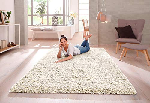 SHAGGY RUG 30MM / 3cm Modern Rugs Living Room Extra Large Small Medium Rectangular Size Soft Touch Thick Pile Living Room Area Rugs Non Shedding (Light Beige Mink, 120cm x 170cm (4ft x 6ft))