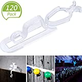Blulu Christmas Light Gutter Clips, Christmas Light Clip, All Purpose Gutter Hooks Compatible with C9, C7, C6 and LED Mini Lights for Outdoor Roof, Shingles, Roof Ridge Line, Fence (120 Packs)
