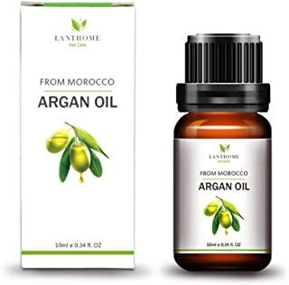yiitay Argan Oil Hair Essential Oil - Pure Organic Cold Pressed of Morocco, Hair Treatment Oil Nourishing Essences Hair Care Product For Men & Women 10ml