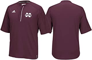 adidas Mississippi State Bulldogs NCAA Men's Maroon Sideline Climalite 1/4 Zip Knit Shirt