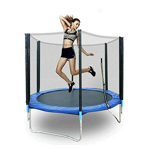 Anciun - Trampolín de jardín para niños (183 cm, red de seguridad, redondo, hasta 300 kg)