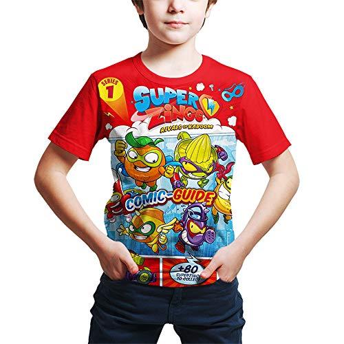 ZONVENL Superzings Maglietta Camicia di Svago T della Stampa del Fumetto Tshirt Disegno d'avanguardia Maglietta for Ragazzi e Ragazze Uomo (Color : A10, Size : L)