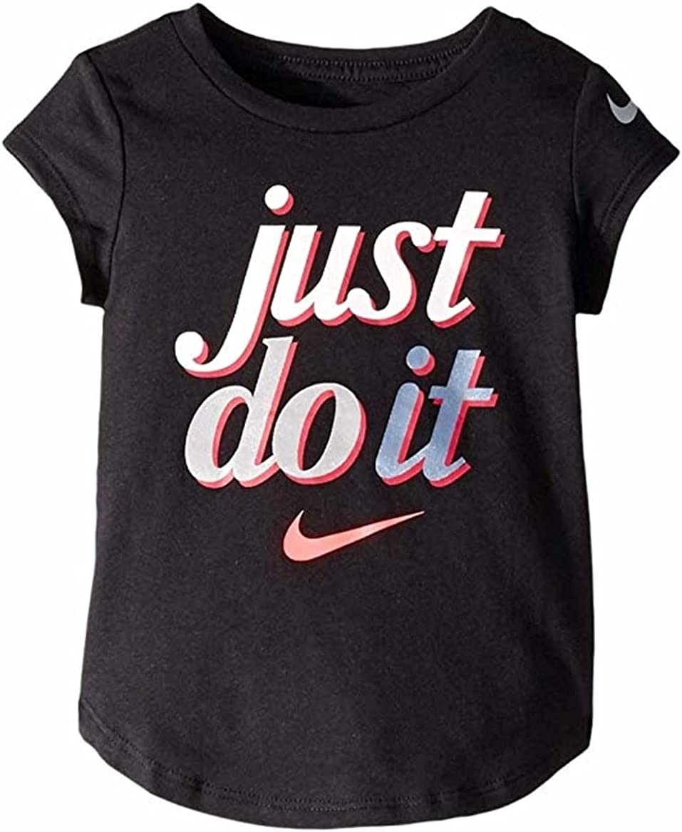 Nike Girls Toddler Just Do It Graphic Tee - Size 3T, Black