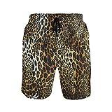WIHVE Men's Swim Trunks Leopard Print Quick Dry...