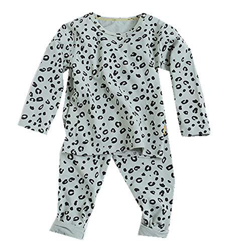 Conjunto de Pijama para niñas Traje de Dormir con Estampado de Leopardo para niños