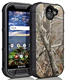 Duraforce Pro 2 Case, Nakedcellphone [Outdoor Camouflage] Tree Leaf Real Woods Camo Tactical Armor Rugged Shield Flexible Cover [Matte,Anti-Fingerprint] for Kyocera Duraforce Pro 2 (E6910/E6920)