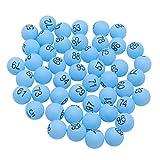 Toyvian 100 Piezas Bolas de Lotería con Número 1-100 Bolas de Ping Pong Pelotas de Tenis de Mesa Bingo Accesorios del Juguete de Lotería