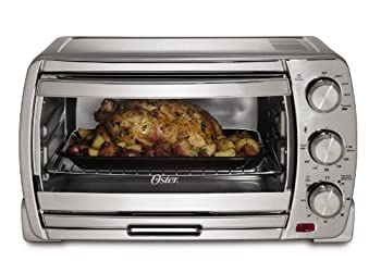Oster TSSTTVSK01 Extra-Large Convection Toaster Oven, Brushed Chrome