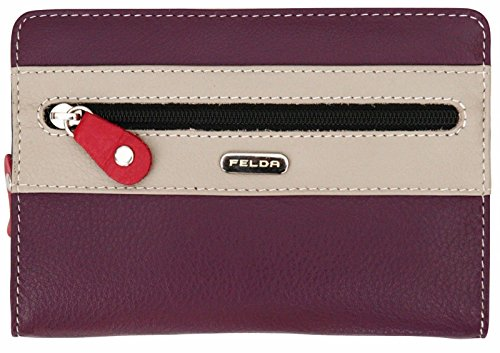 Felda Ladies Genuine Leather Soft Purse - RFID Protection and 20 Card...