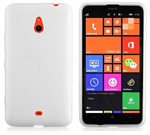 Cadorabo Custodia per Nokia Lumia 1320 in Semi Transparente - Morbida Cover Protettiva Sottile di Silicone TPU con Bordo Protezione - Ultra Slim Case Antiurto Gel Back Bumper Guscio