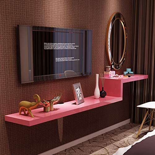 Meuble de télévision mural Étagère murale Étagère flottante étagère à livres Étagère de stockage multimédia meuble TV Chambre à coucher étagère de salon 1.2M / 1.4M