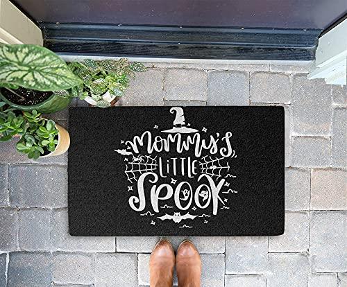 Halloween Doormat - Mommy's Little Spook 24x16 Inch Outdoor Front Door Mat Kitchen Mat for Floor Welcome Home