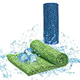 KATOOM Toalla Refrescante Deportiva Toalla de Microfibra Cooling Towel para Fitness a Fregar Sudor, Secado Rápido para Playa, Yoga, Ciclismo, Golf, Acampar, Gimnasio, Natacion, Viaje(30 * 100) CM