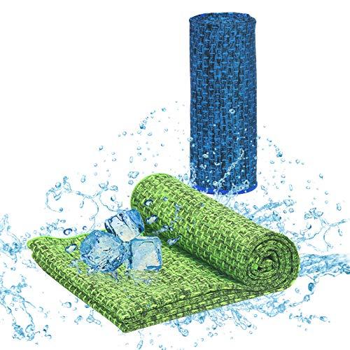 KATOOM 2STK Kühlendes Handtuch Cool Towel Kühl Fitness Handtuch Kühltücher Golf Fitnesshandtuch Kühlhandtuch Sporthandtuch für Sport Laufen Wandern Camping Reise Yoga Spiele