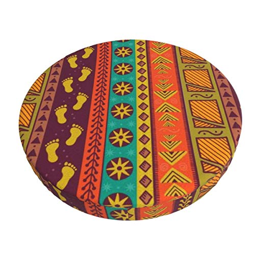 Round Bar Stools Cover,Nahtloses Muster des Ethnischen Stammes,Stretch Chair Seat Bar Stool Cover Seat Cushion Slipcovers Chair Cushion Cover Round Lift Chair Stool