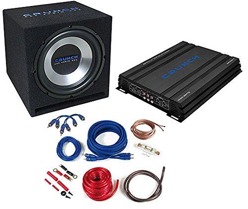 Crunch CBP1000– Audio-Verstärker fürs Auto (schwarz, 50–250Hz, 50–250Hz, 0–12DB, A/B, AC, RCA)