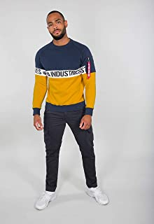 ALPHA INDUSTRIES Men's Al Stripe Sweatshirt, Black