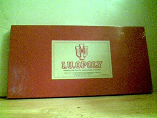 I. U. Opoly - Indiana University - 2nd Edition 1987 by Late For The Sky Production Co.