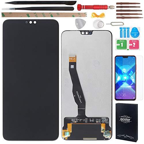 """YHX-OU 6.5"""" per Huawei Honor View 10 Lite Honor 8X di Riparazione e Sostituzione LCD Display Touch Screen Digitizer con Utensili Inclusi+1 Pezzo Vetro temperato (Nero)"""