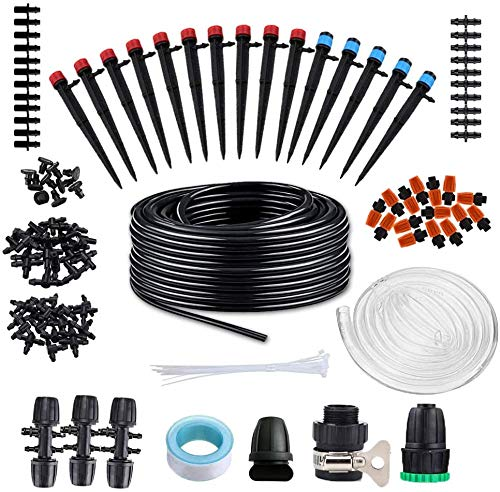 Drip Irrigation System Kits Garden - 138ft Automatic Plant Watering System...